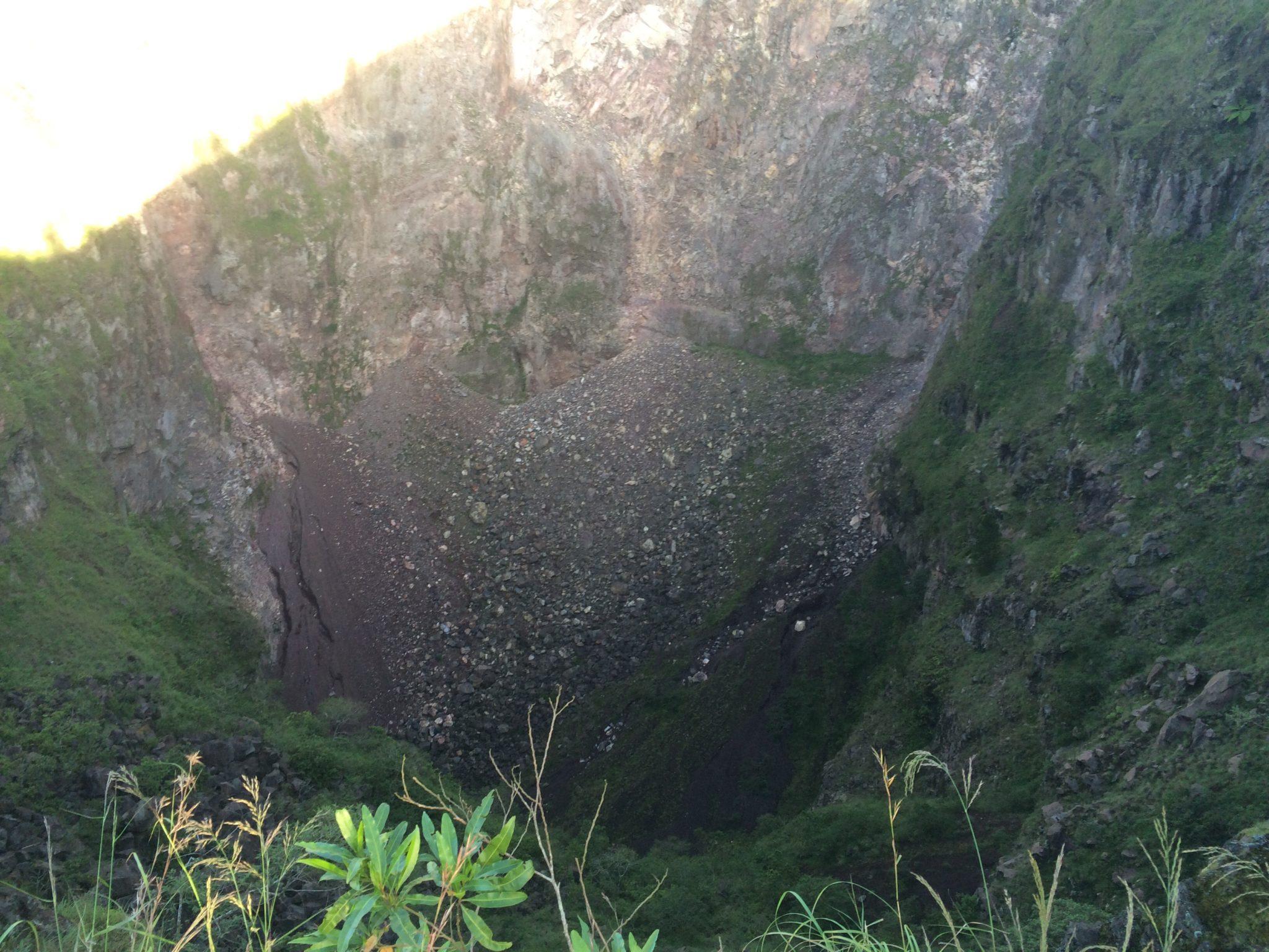 Mountain Batur crater
