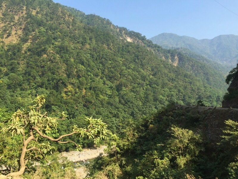 Rishikesh hills Ganges