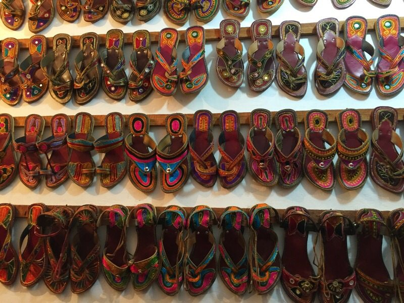 Indian shoe shop
