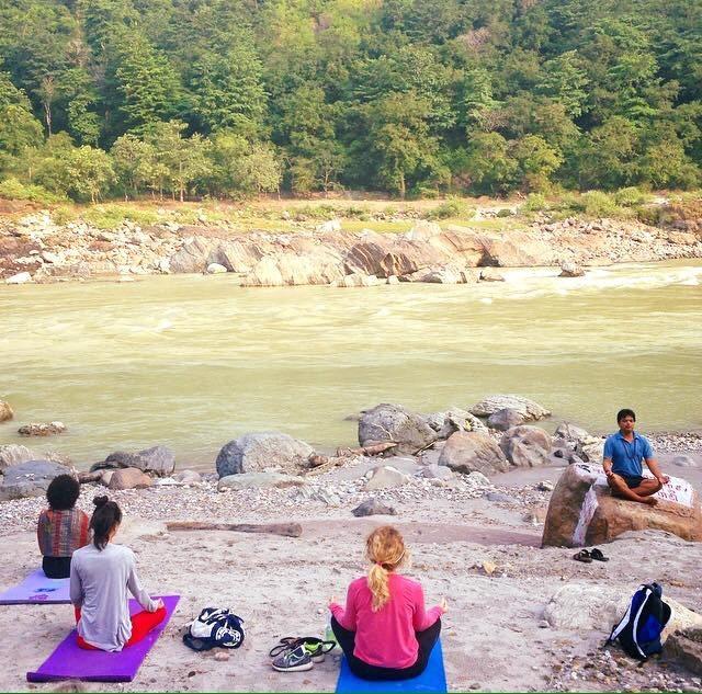 yoga teacher training course Ganga river yoga class Rishikesh
