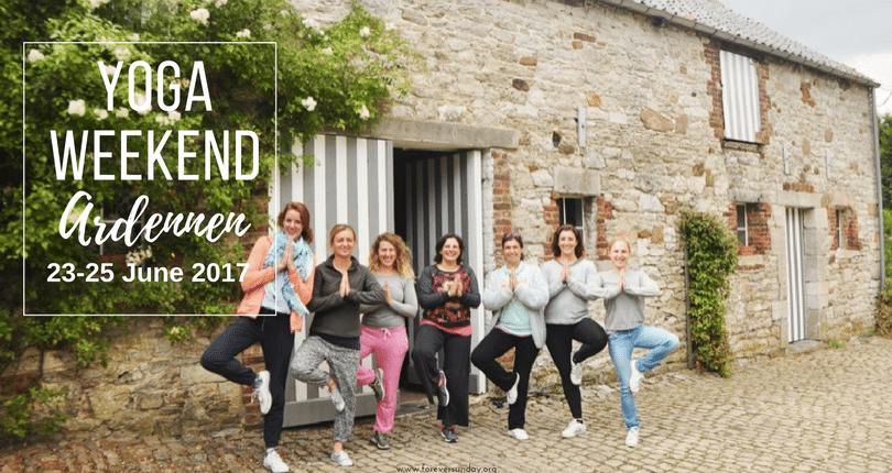 Yoga weekend Ardennen 23- 25 June 2017