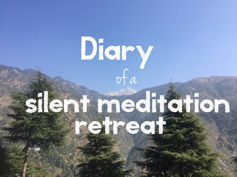 Diary of a silent retreat. Diary of a meditation retreat.