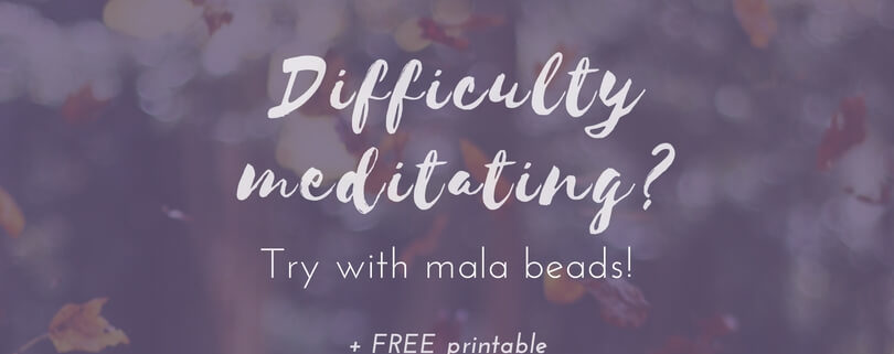 Difficulty meditating? Try with mala beads