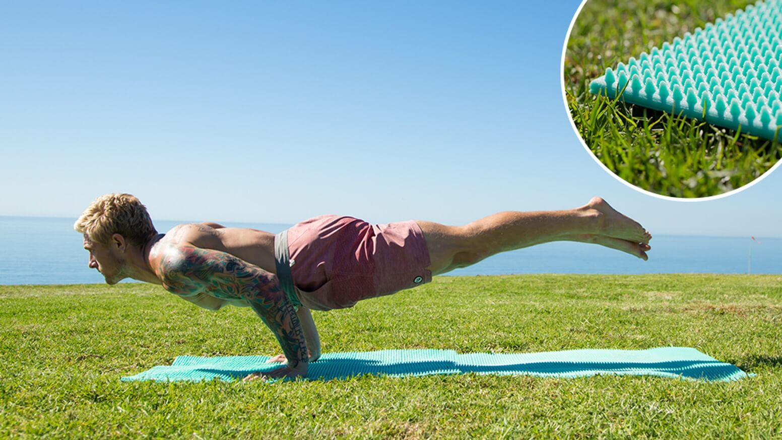 Grippz acupressure yoga mat
