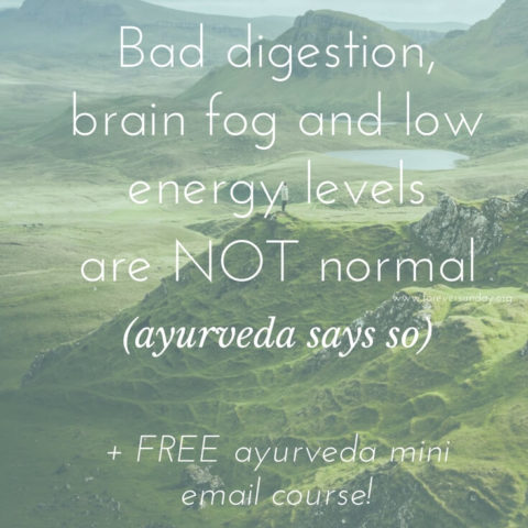 ayurveda says so