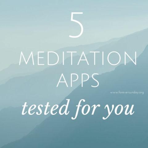 5 meditation apps tested for you
