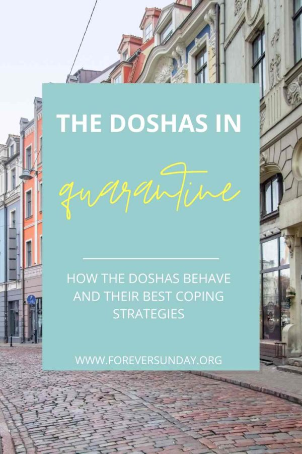 The doshas and social distancing - empty cobble street