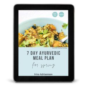 7 day ayurvedic meal plan for spring